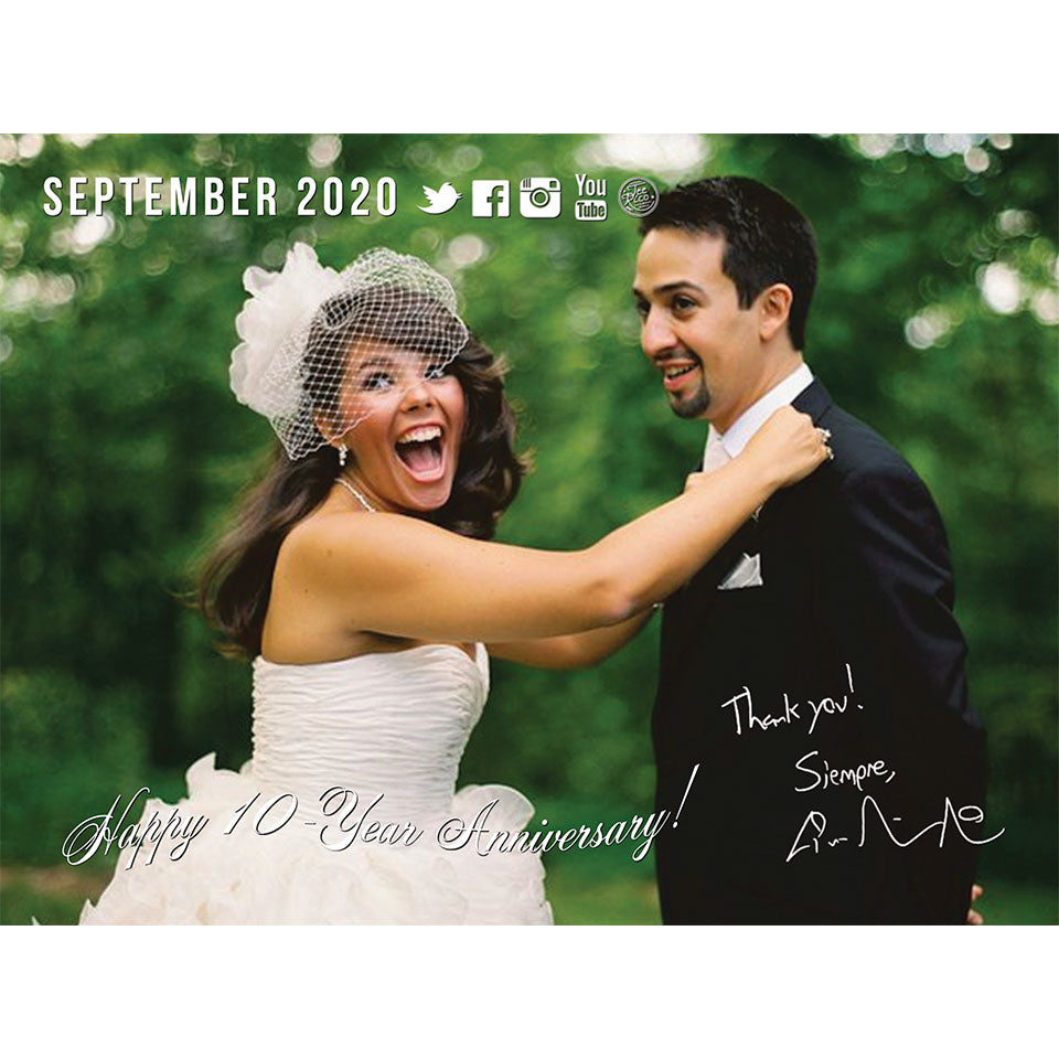 Lin-Manuel September '20 3X4 Thank You Card - Ten Years