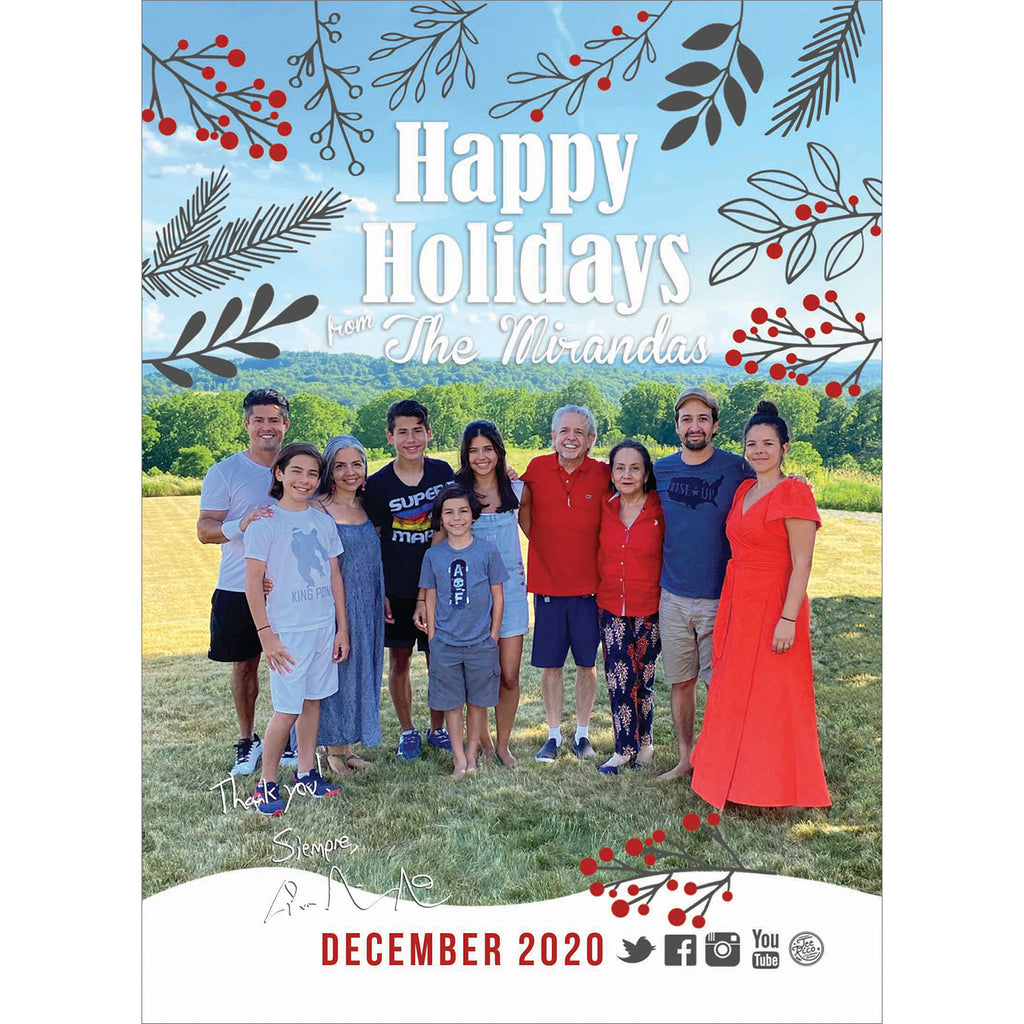 Lin-Manuel December '20 3X4 Thank You Card - Holiday 2020