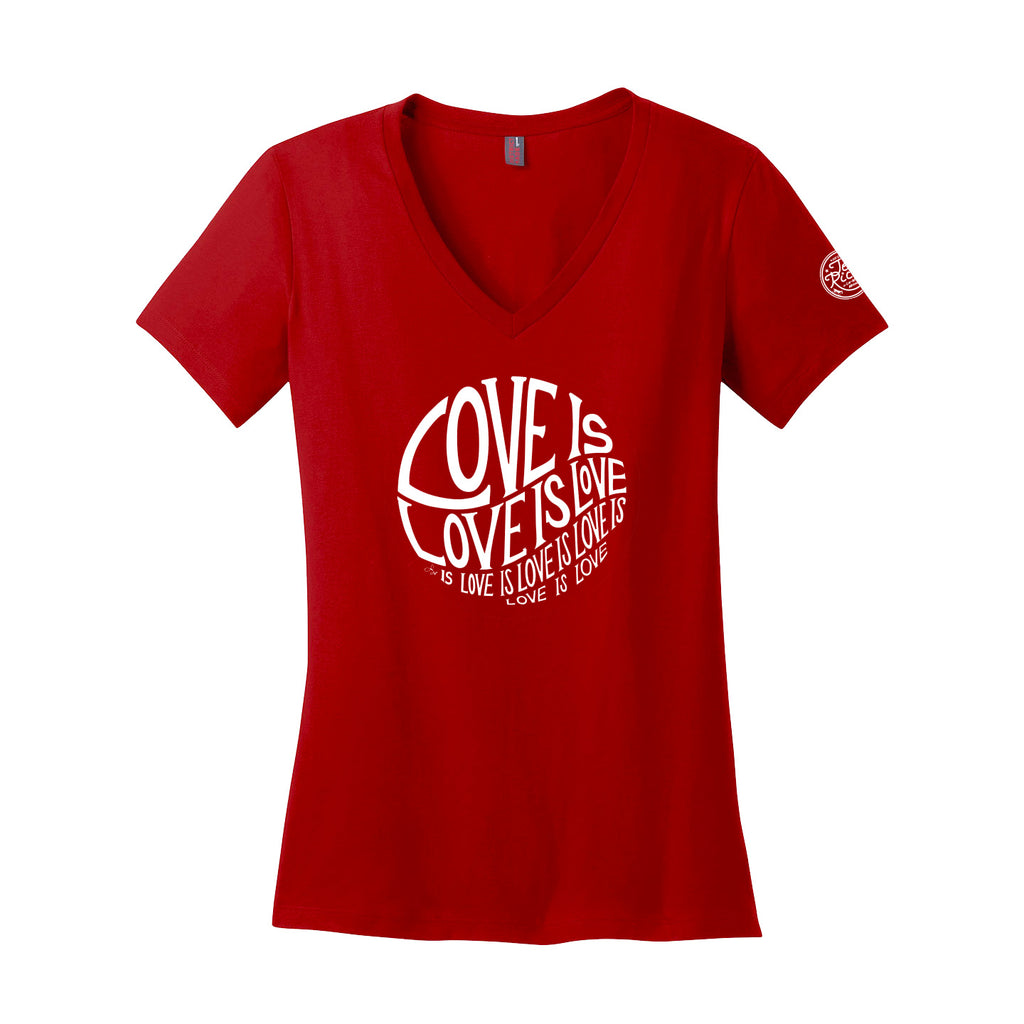 Circle of Love is Love - Ladies V-Neck