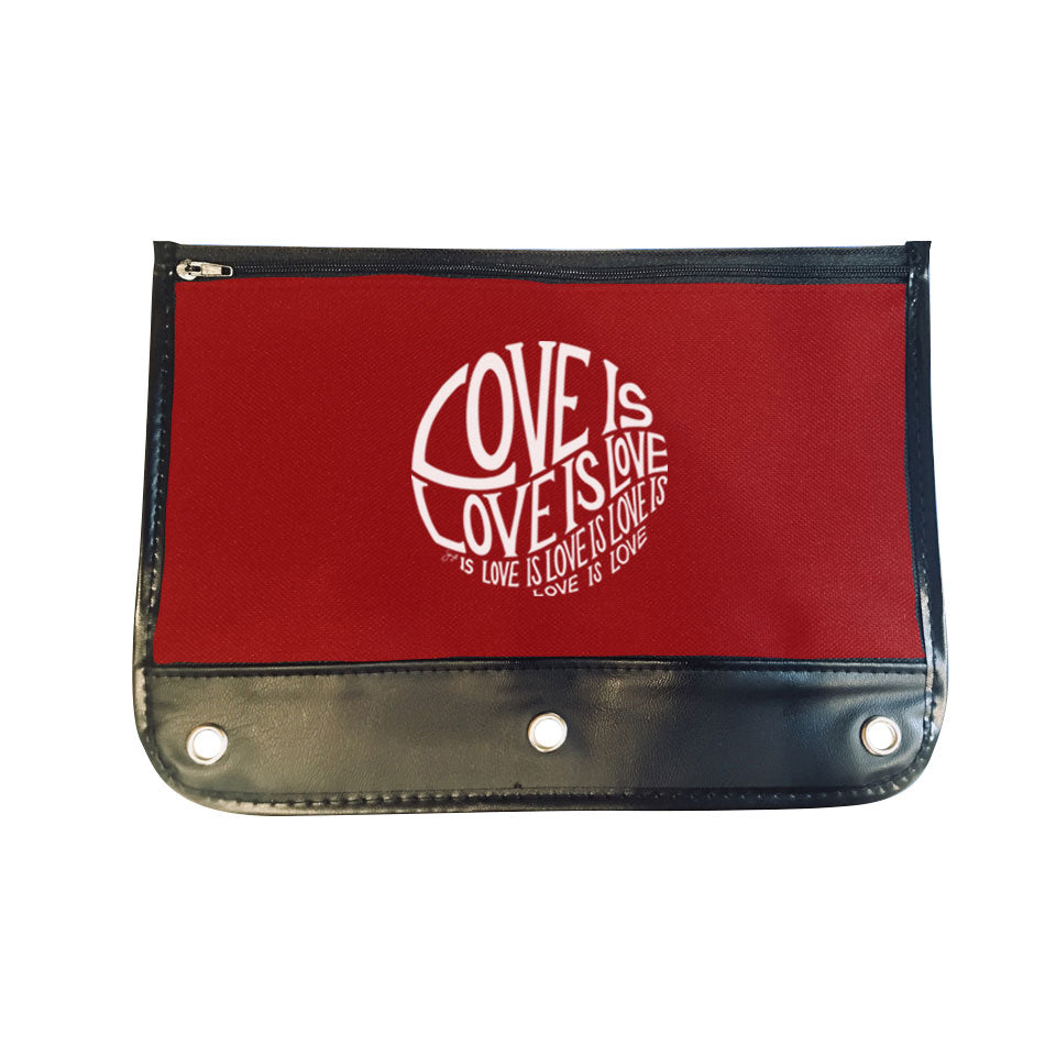 Circle of Love - Zippered Pencil Case - Woo-ooo Big Winter Blowout Final Sale Item!