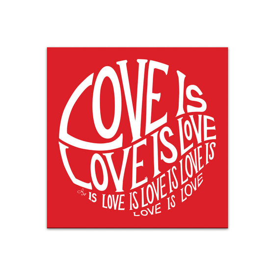 Circle of Love is Love - 12X12 in Poster