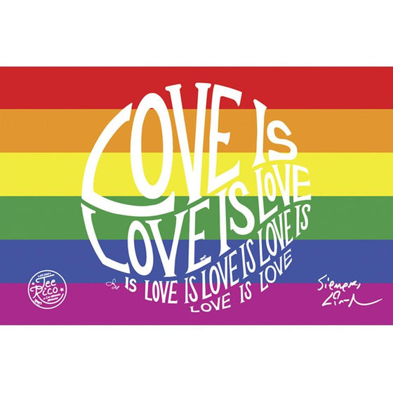"Circle of Love - 5X7"" Pride Flat Magnet"