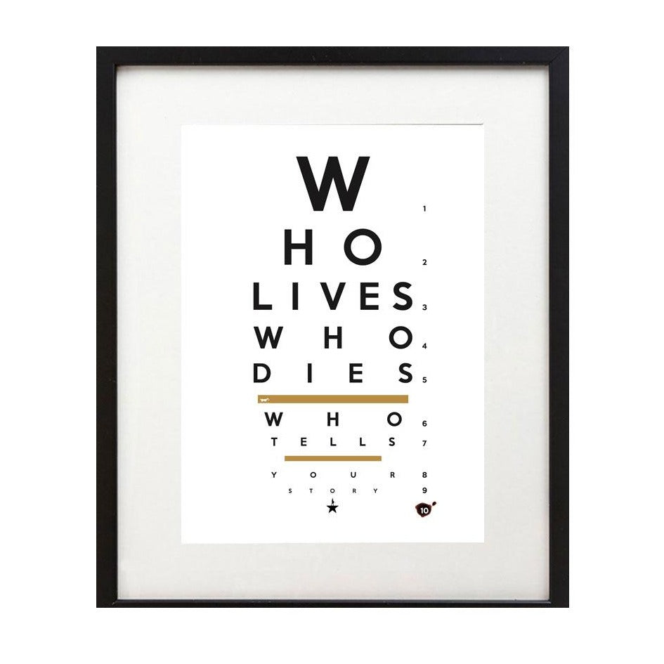 "Hamilton ""Dueler Eye Chart"" 8X10 Art Print - New Item"