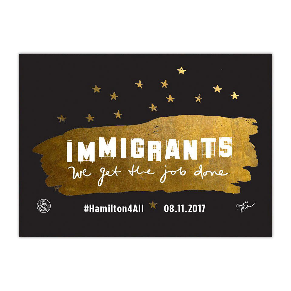 "Hamilton LA - Immigrants We Get the Job Done - 5""x7"" Magnet - Final Sale Item"