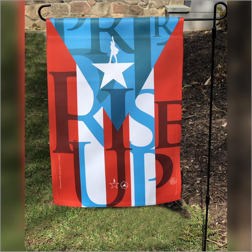 "Hamilton Puerto Rico - 12""x18"" Rise Up Garden Flag - New Item"