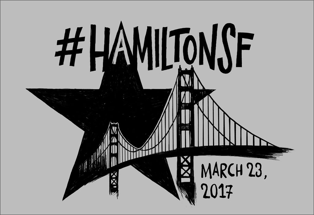 "Hamilton San Francisco - 5""x7"" Magnet - Final Sale Item"