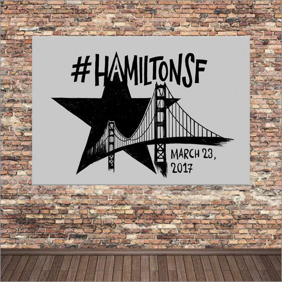 Hamilton San Francisco - 11X17 Poster - Lin-Manuel - Woo-ooo Big Winter Blowout Final Sale Item!