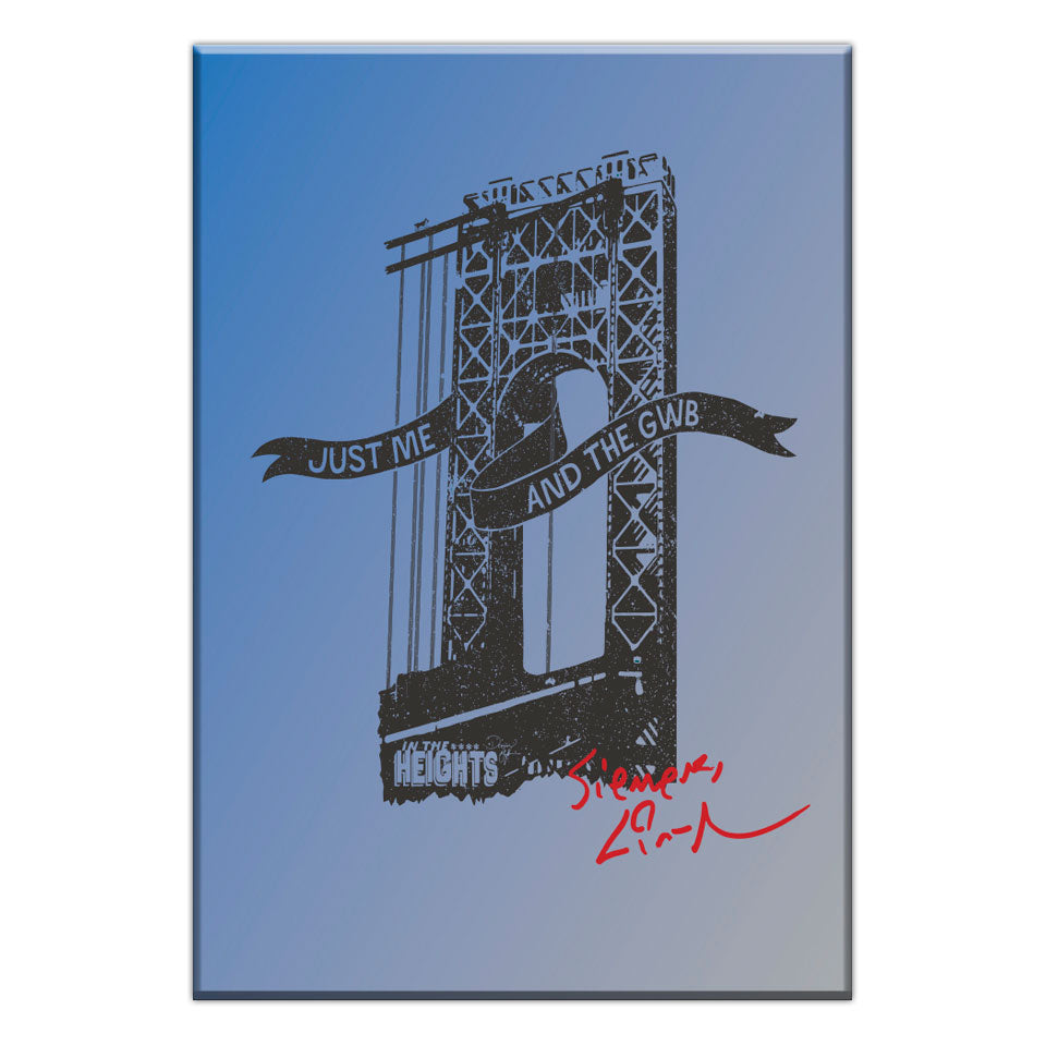 In the Heights - Me & the GWB - 3.5X2.5 Flat Magnet