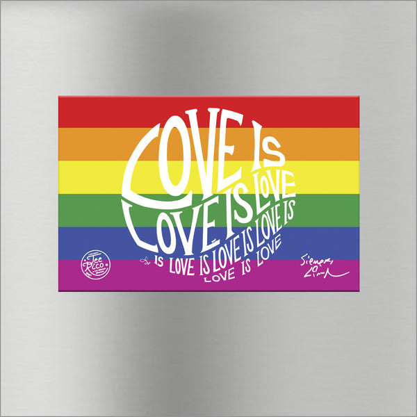 Circle of Love is Love - 5.7 in Rainbow Magnet - New Item