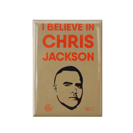 "I Believe in Chris Jackson - 2.5""X3.5"" Button Magnet"