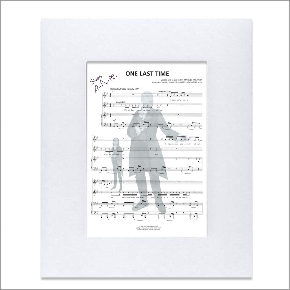 "Hamilton ""One Last Time"" 8""x10"" Music Sheet"