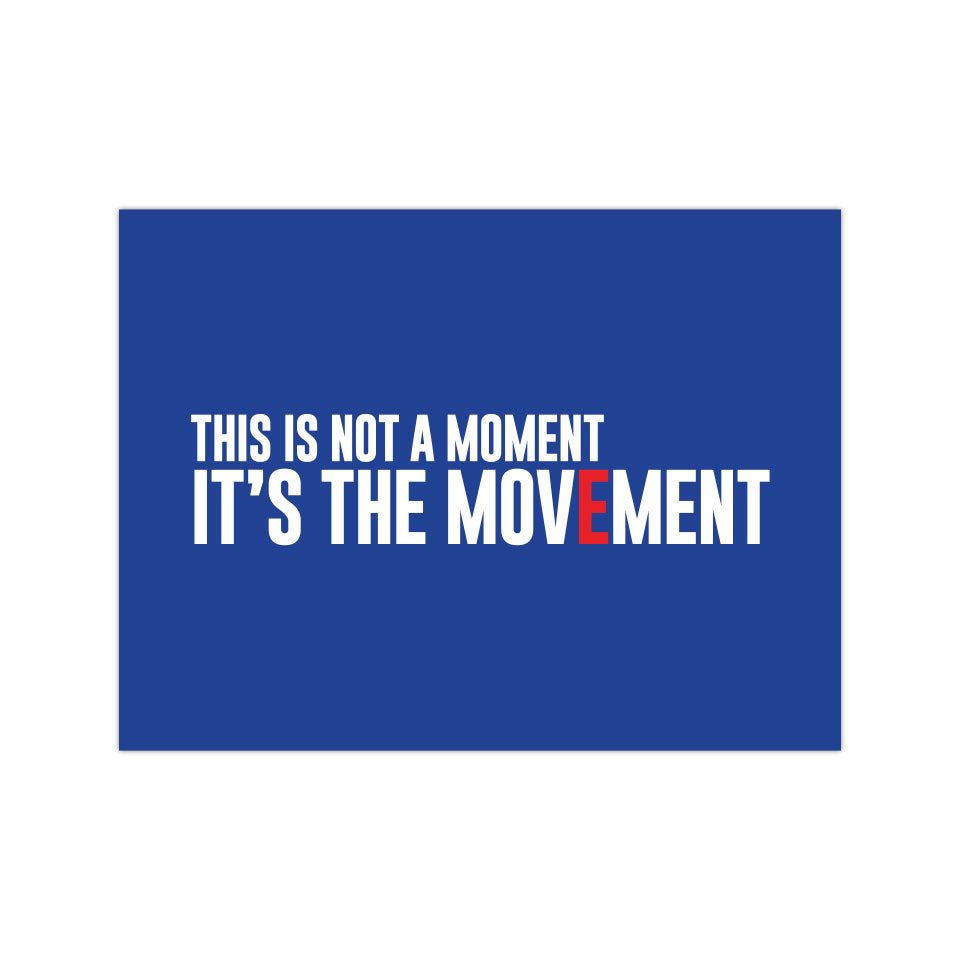 "The Movement - Blue Wave - 3""x4"" Magnet"