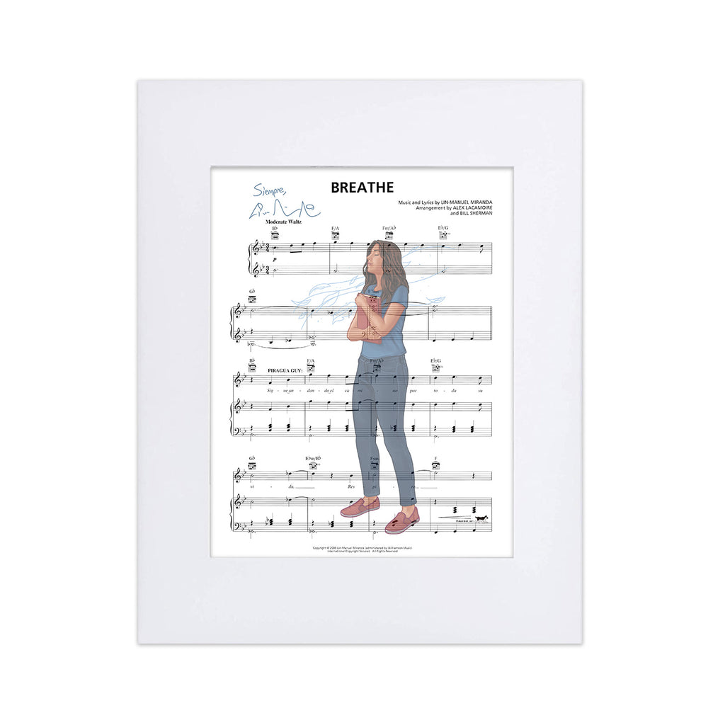 "In the Heights ""Just Breathe"" 8""x10"" Music Sheet"