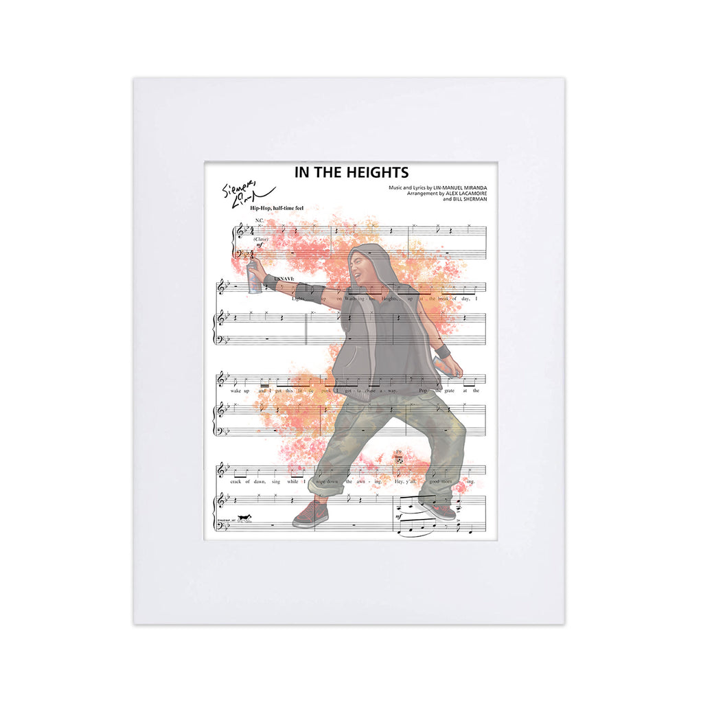 "In the Heights ""In the Heights"" 8""x10"" Music Sheet"