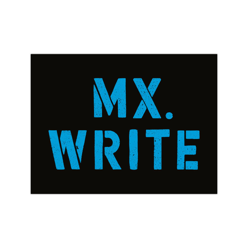 "Mx. Write - 3""x4"" Vinyl Sticker"