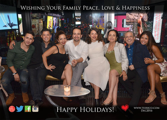 Lin-Manuel December '16 5X7 Thank You Card - From Our Family to Yours!