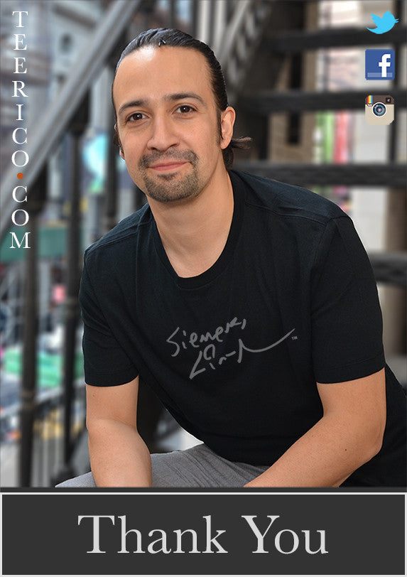 Lin-Manuel September '16 5X7 Thank You Card - Richard Rodgers Roof!