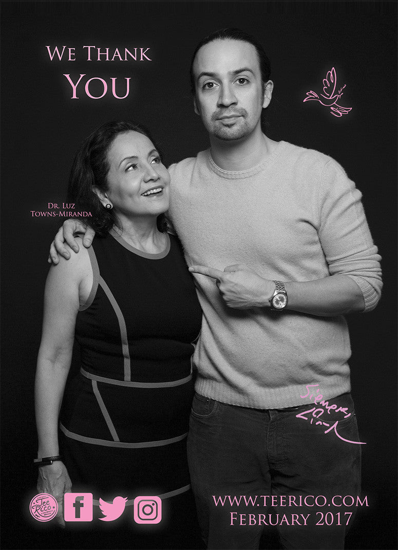 Lin-Manuel February '17 5X7 Thank You Card - Dr. Towns-Miranda & Son!
