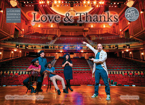 Lin-Manuel January '17 5X7 Thank You Card - Benefiting Gilder Lehrman!