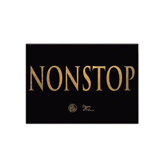 "NONSTOP - 2.5""x3.5"" Magnet - Gold"