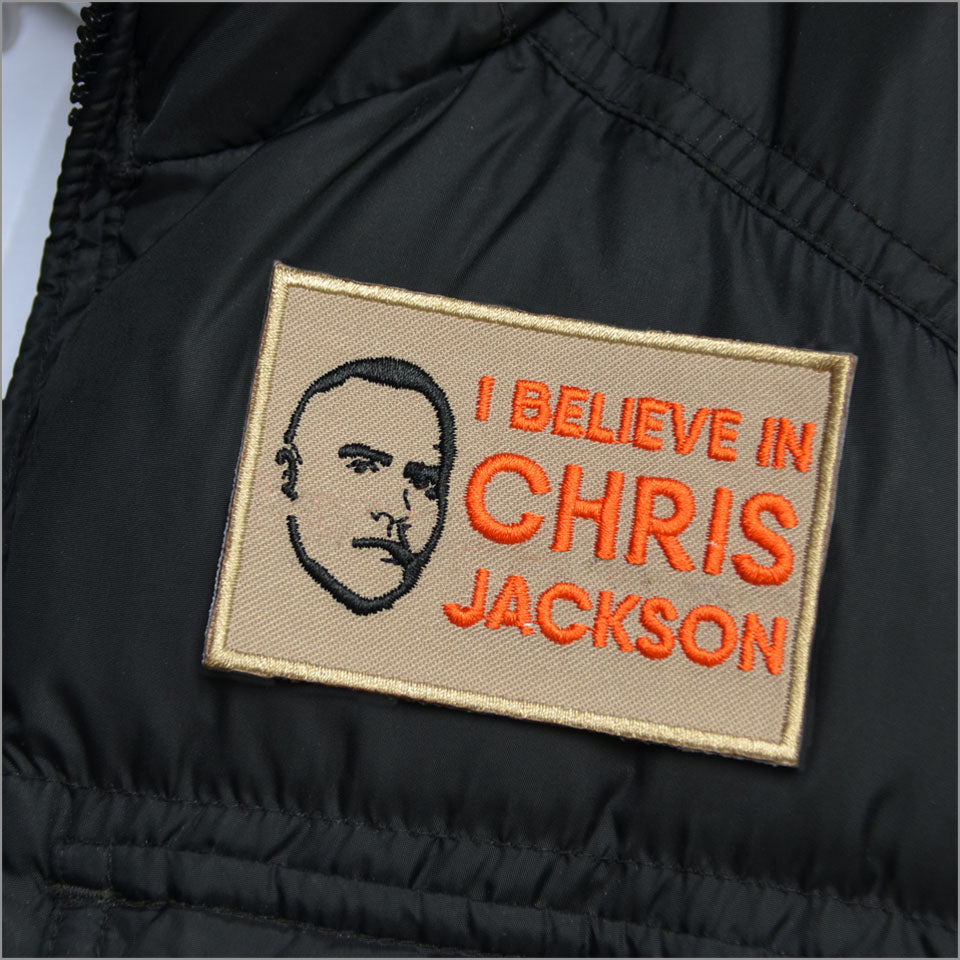 "I Believe in Chris Jackson -  3x2""  Patch - New Item"