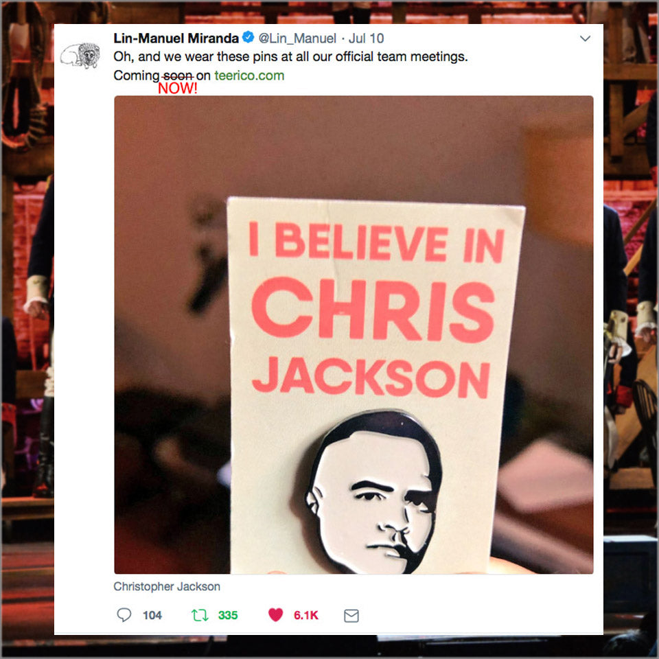 I Believe in Chris Jackson - Enamel Pin - New Item