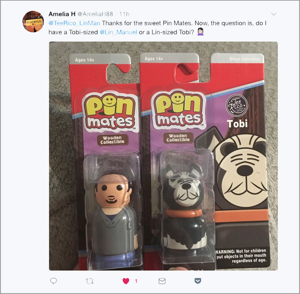 Lin-Manuel & Tobi Collectible Pin Mate™