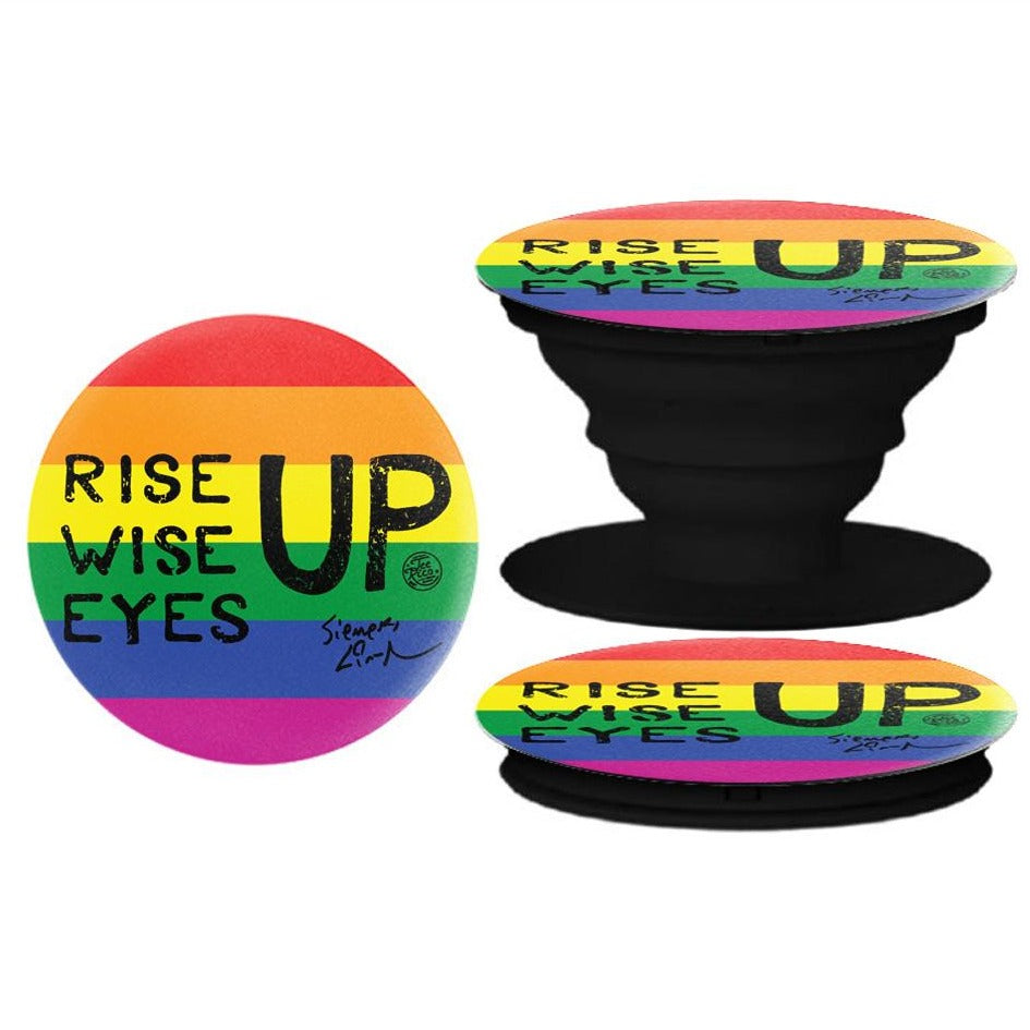 RISE UP - pop socket phone holder - Pride - New Item
