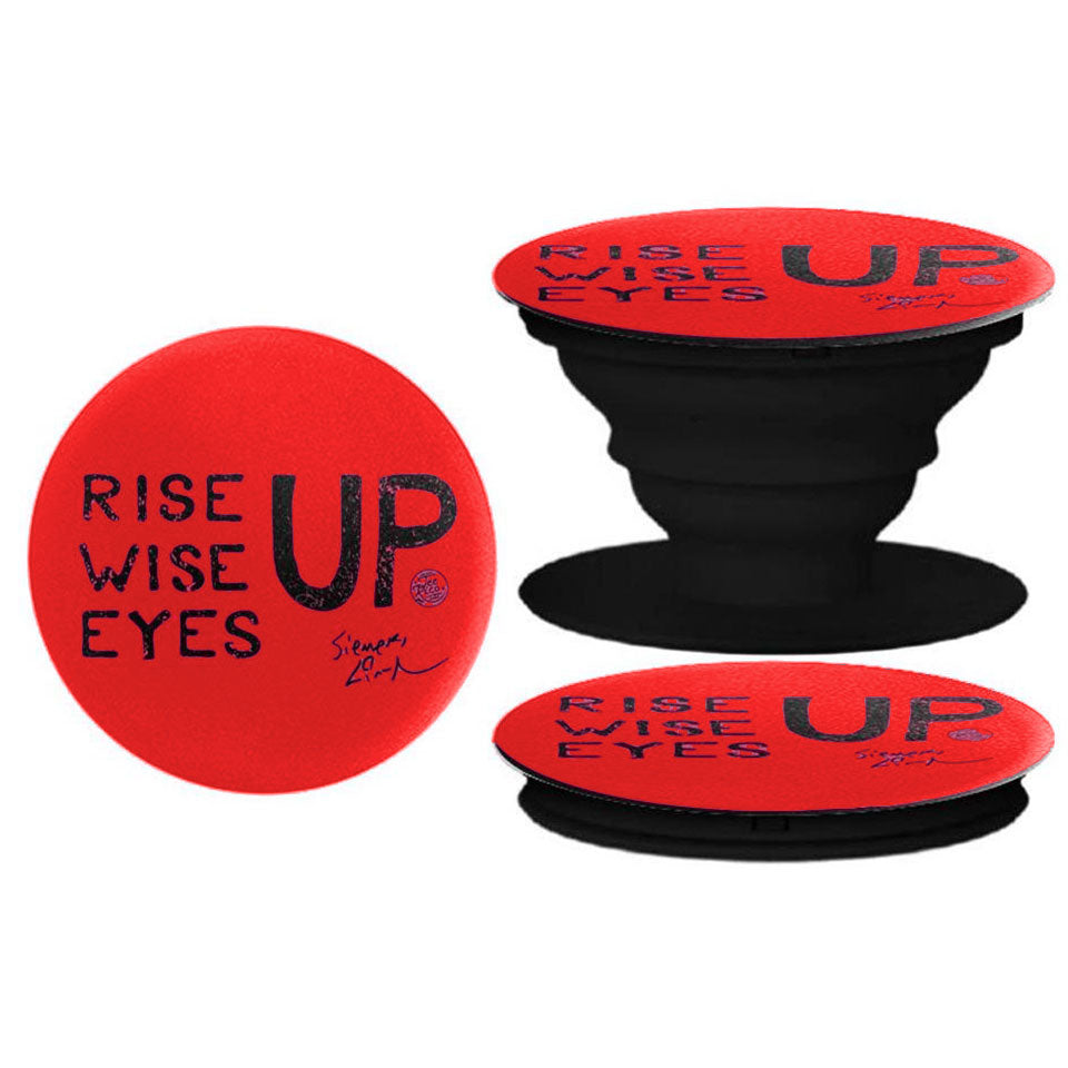 RISE UP - Pop Socket Phone Holder - Red