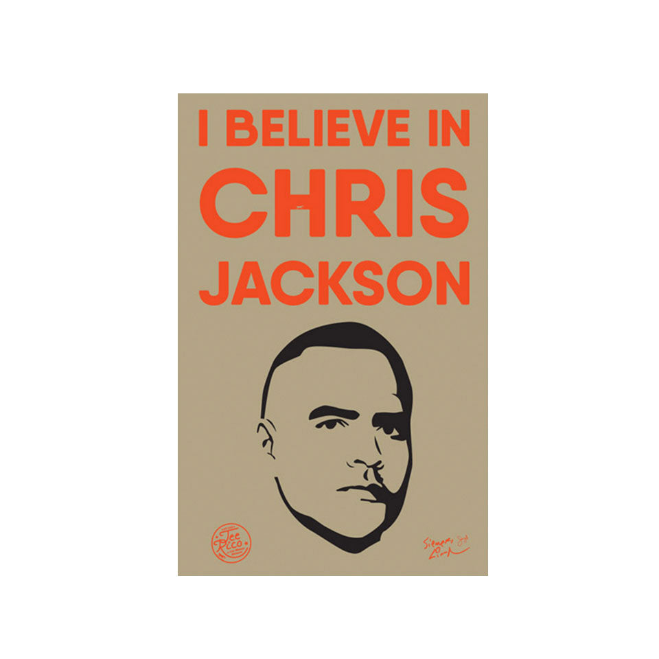"I Believe in Chris Jackson - 2""x3"" Removable Vinyl Bumper Stickers (2)"