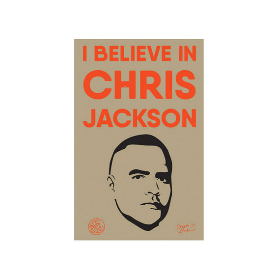 "I Believe in Chris Jackson - 2""x3"" Removable Vinyl Bumper Stickers (2) - New Item"