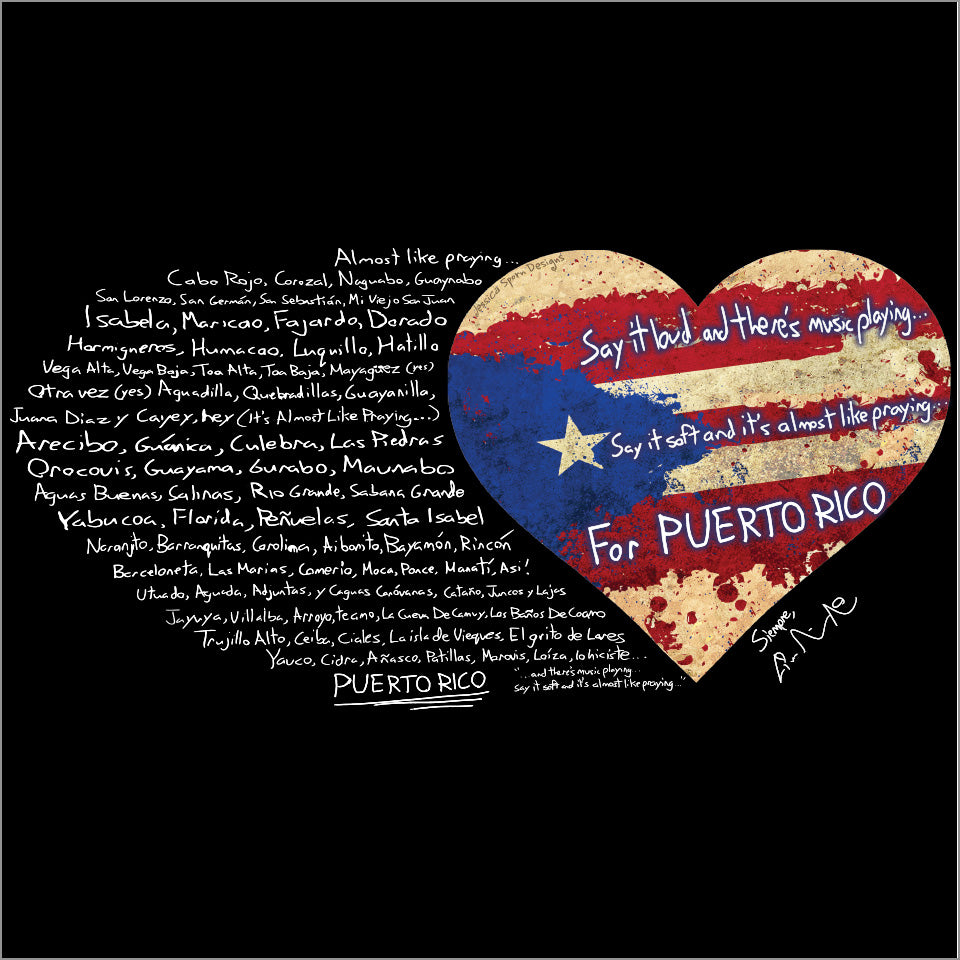 "Puerto Rico Relief Collection by Lin-Manuel - 30""x60"" Towel"