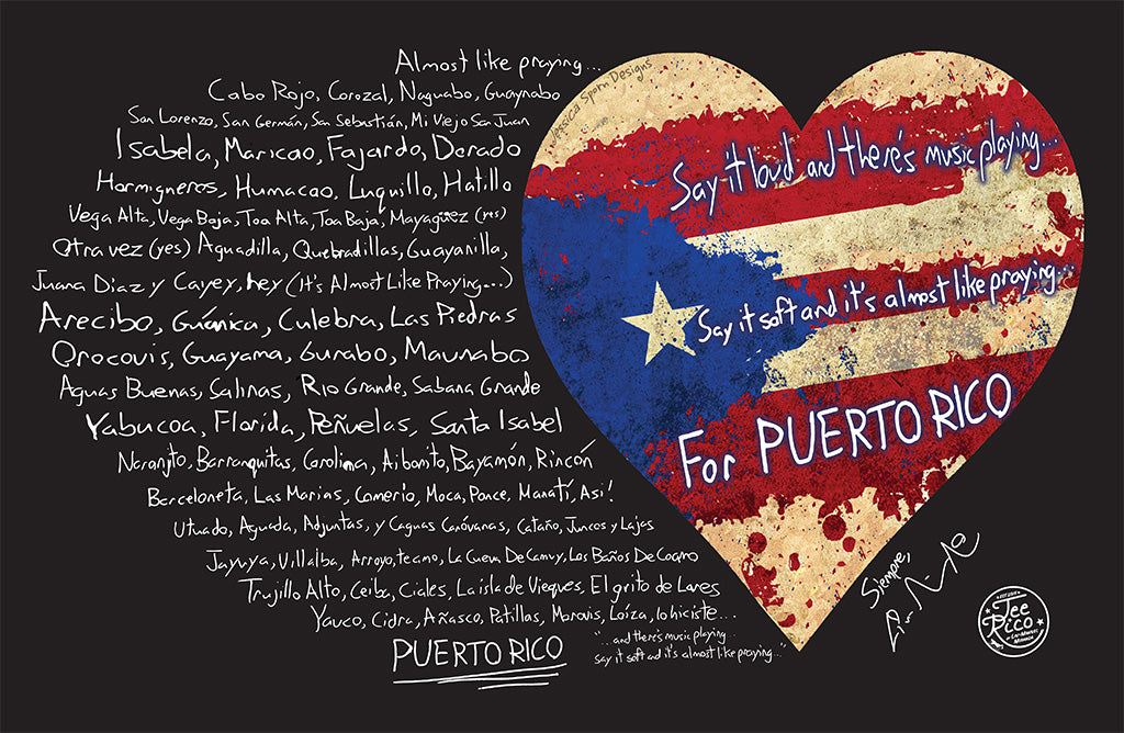 "Puerto Rico Relief Collection by Lin-Manuel - 5X7"" Flat Magnet"