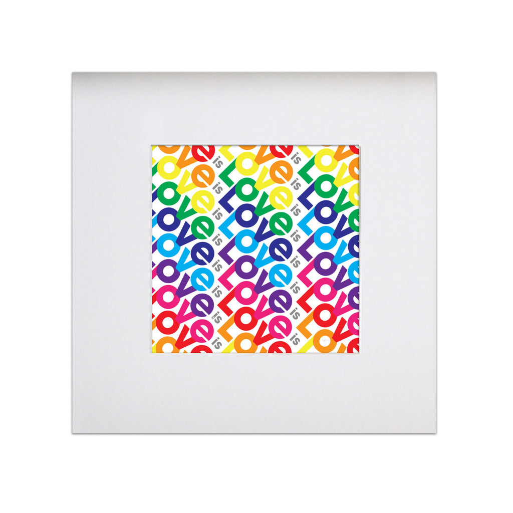 "Love is Love - Pride 8""x8"" Art Print"