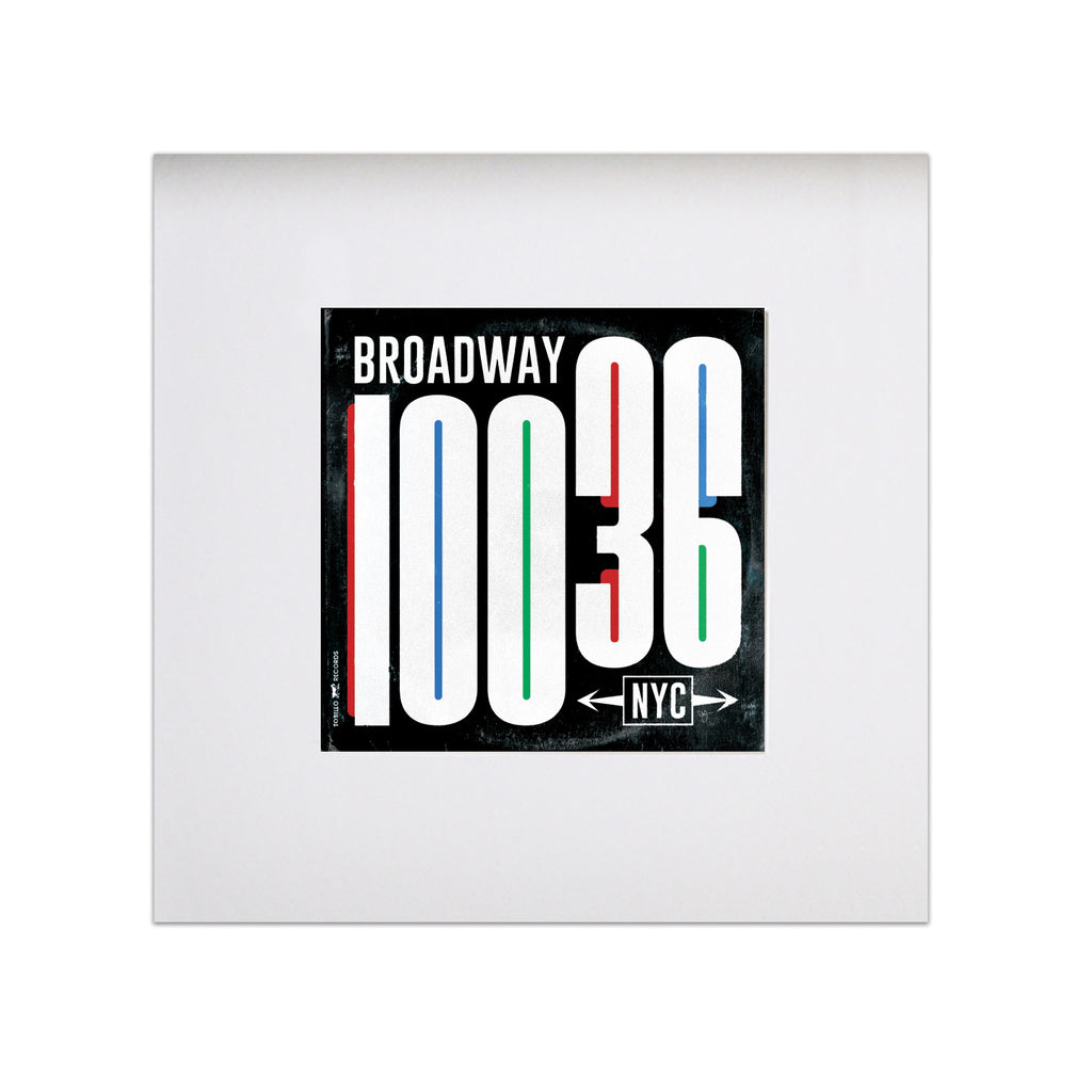 "Broadway Vinyl Sleeve 8""x8"" Art Print - Black"