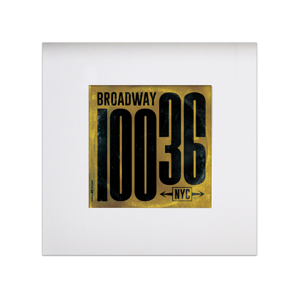 "Broadway Vinyl Sleeve 8""x8"" Art Print - Gold"