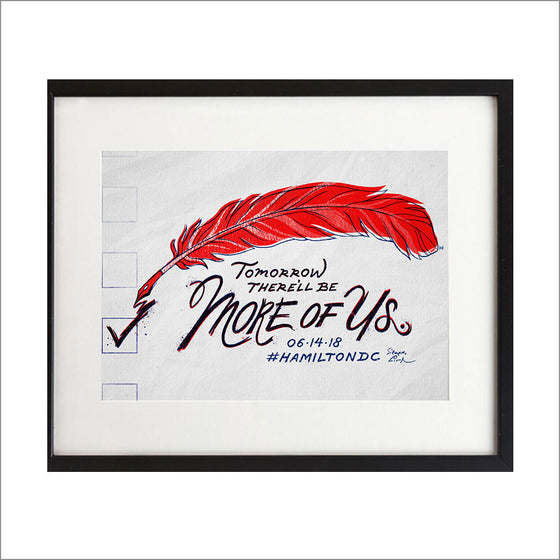Hamilton DC - More Of Us - 8.5 x 11 Art Print