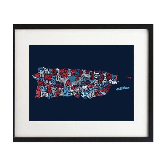 Puerto Rico Town Map - 8X10 Art Print - New Item