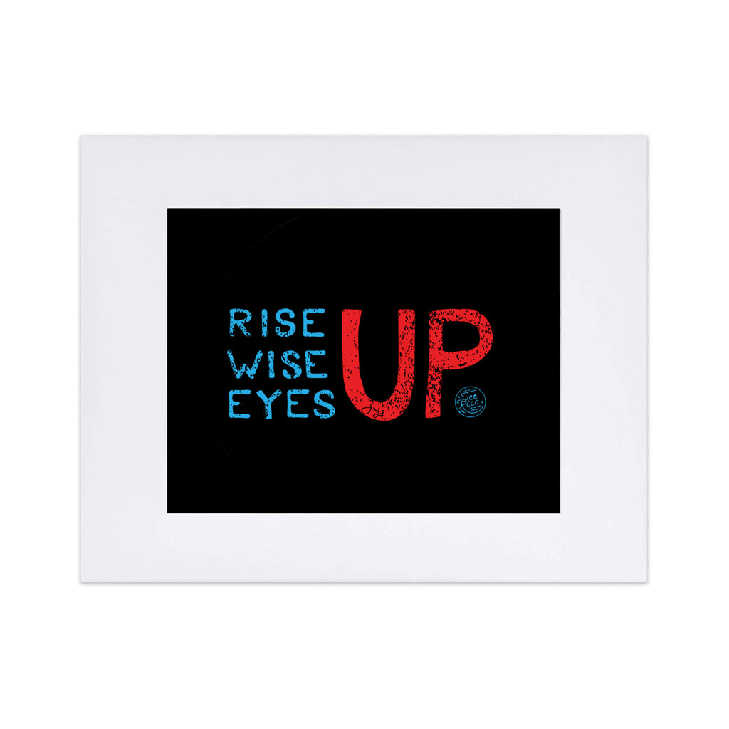 "Rise Up Blue Wave 8""x10"" Art Print"