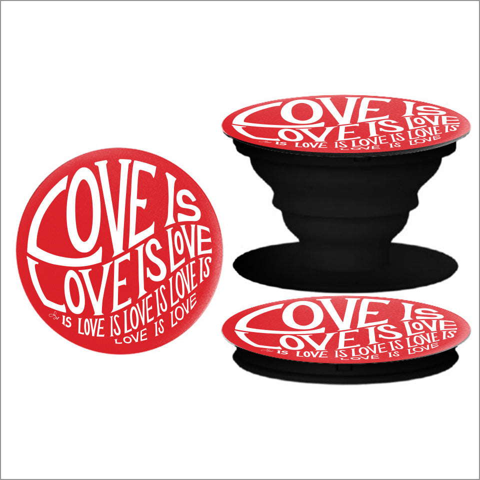 Circle of Love - Pop Socket Phone Holder - Red