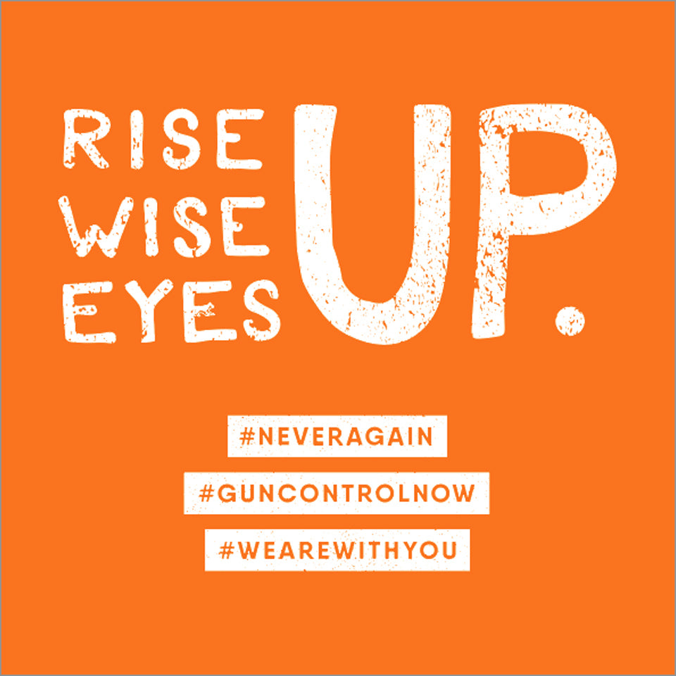 Rise Up, Wise Up, Eyes Up #EVERYTOWN Limited Edition YOUTH Crew - Restocked!