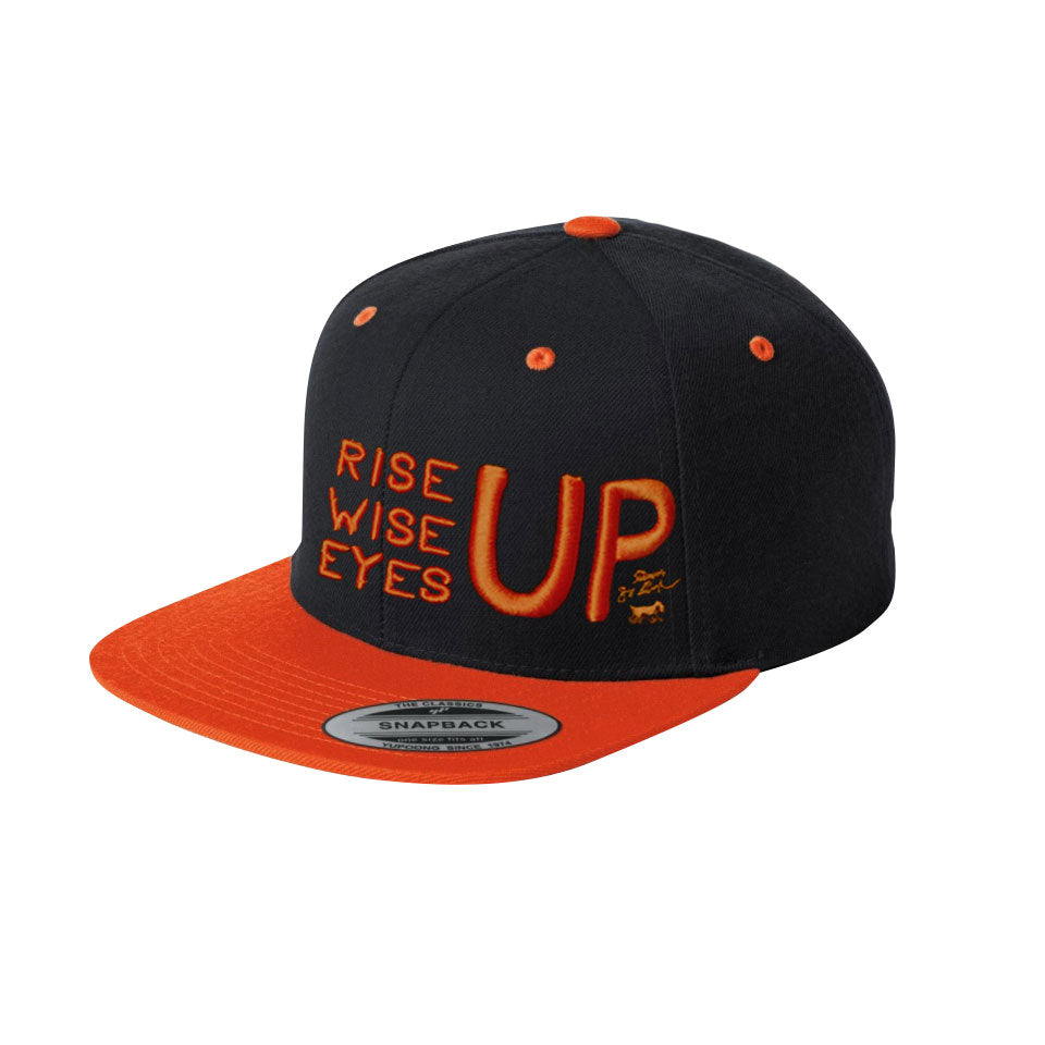 Rise Up, Wise Up, Eyes Up Cap - Limited Edition Orange