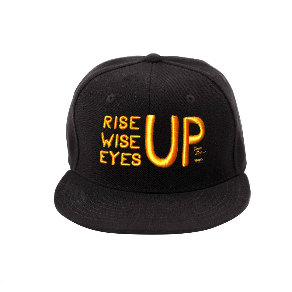 Rise Up, Wise Up, Eyes Up - Gold Flatbrim Cap