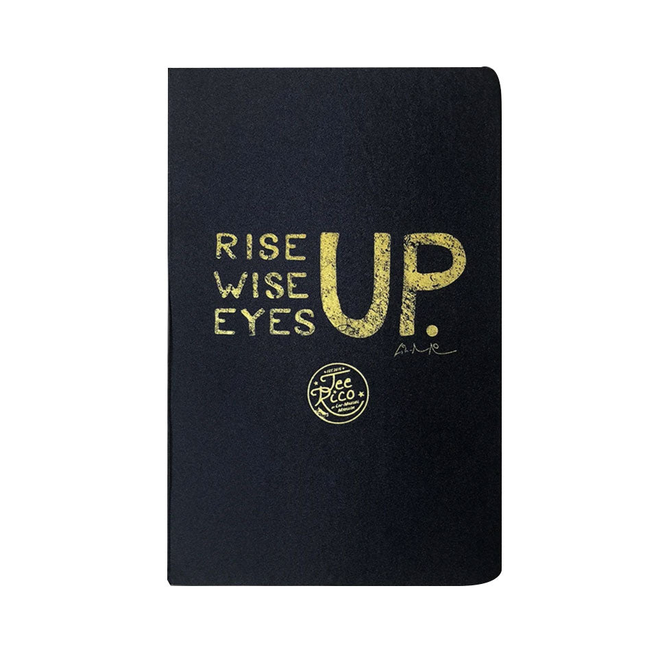 "Rise Up, Wise Up, Eyes Up - 5.5"" x 8.5"" Hardcover Journal 80 Pages"
