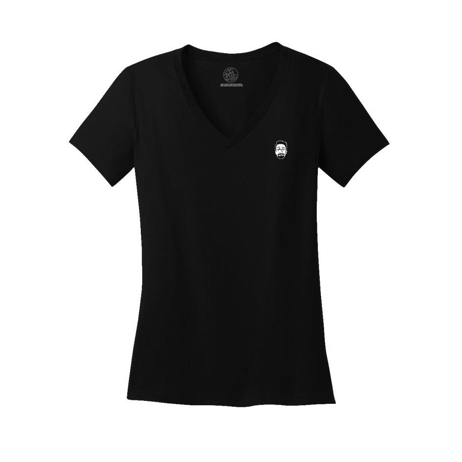 Shirty McShirtFace - Ladies V-Neck