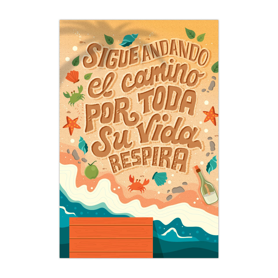 "Sigue Andando - 4""X6"" Vinyl Sticker"