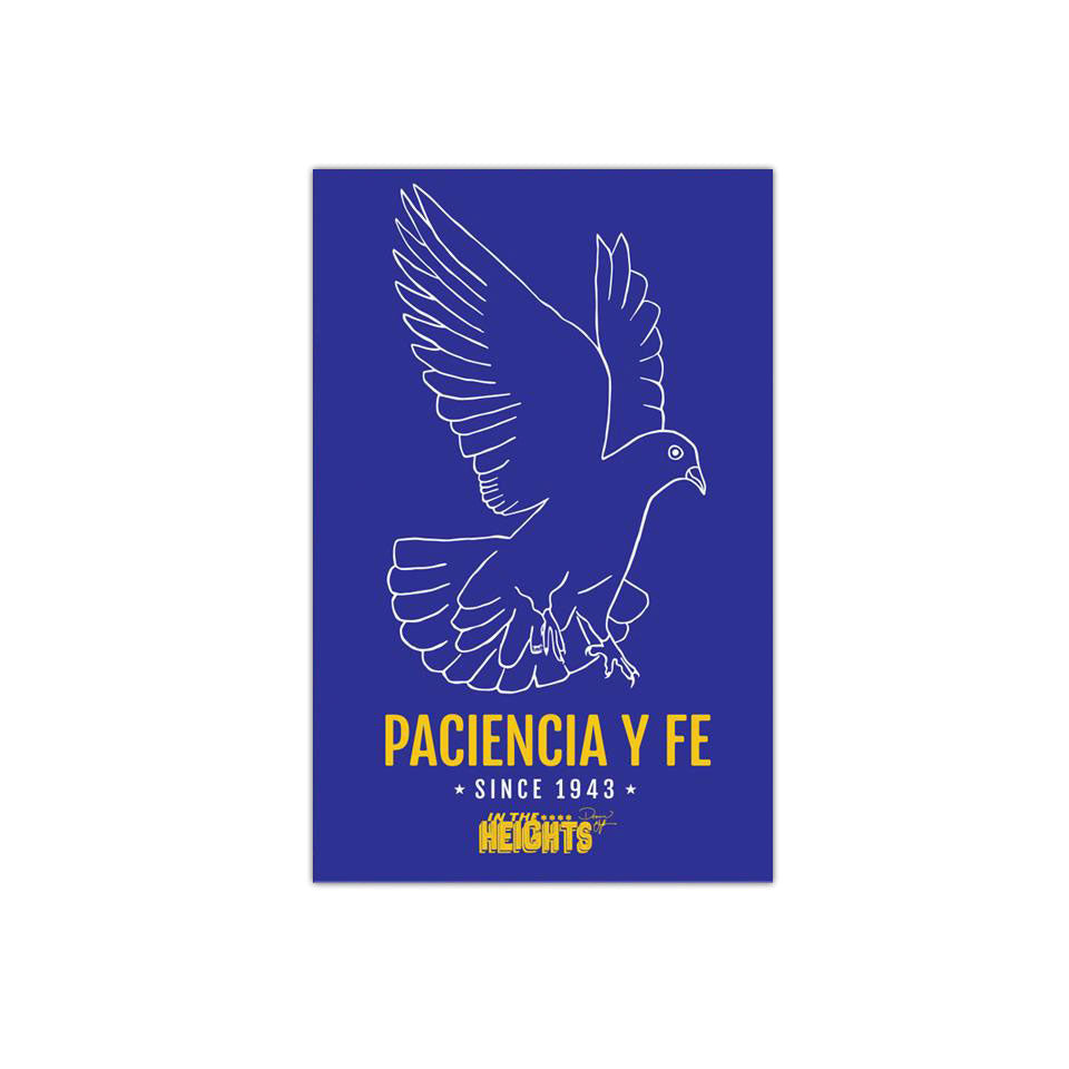 "In the Heights - Paciencia y Fe -  3""x2"" Vinyl Sticker (2)"