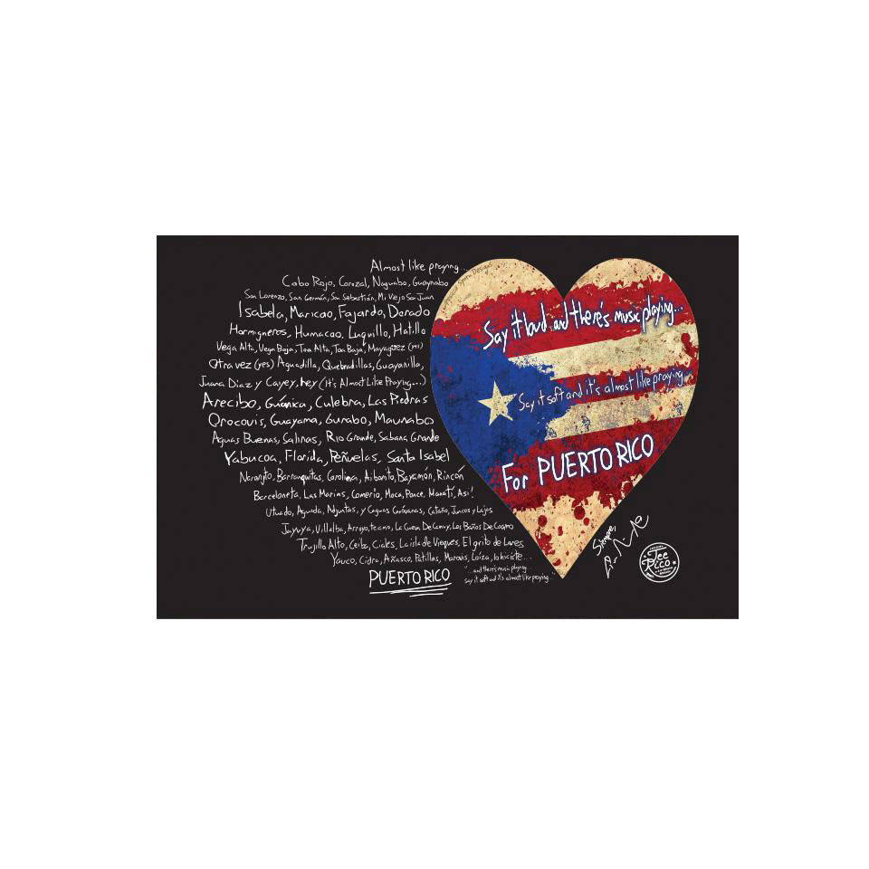 "Puerto Rico Relief Collection by Lin-Manuel 3""x2"" Vinyl Stickers (2)"