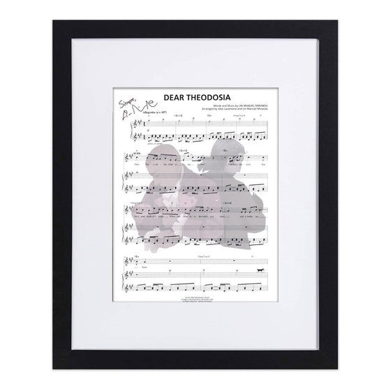 "Hamilton ""Dear Theodosia"" 8""x10"" Music Sheet"