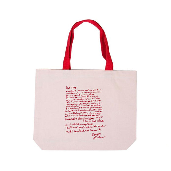 Love Sonnet - Cotton Canvas Tote